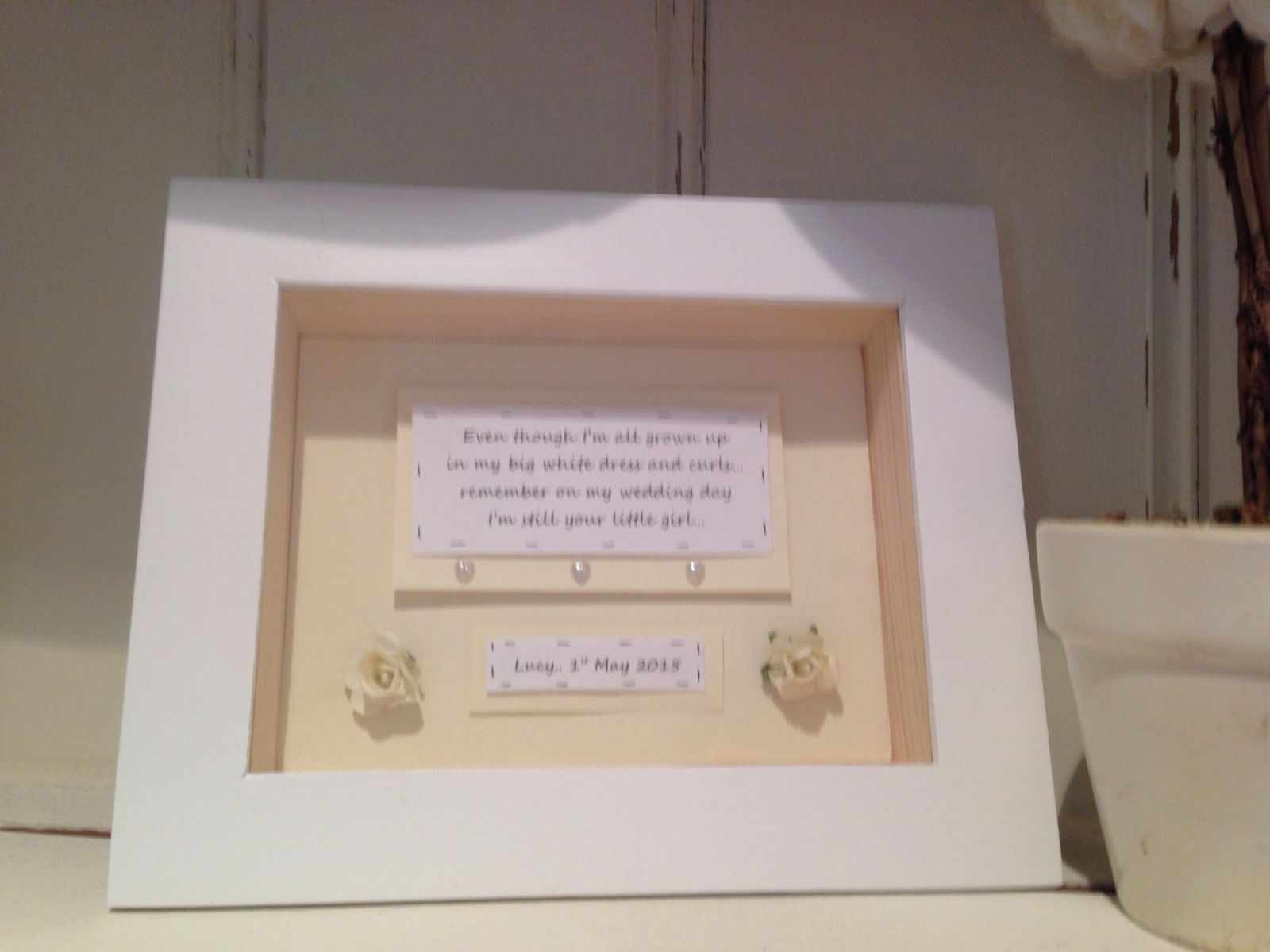 shabby personalised chic mother of the bride wedding gift box frame present mum - Mother Of The Bride Picture Frame